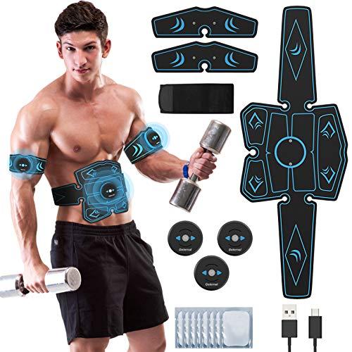 UIHOL EMS Trainingsgerät, EMS Elektrische Muskelstimulation USB-wiederaufladbarer tragbarer...
