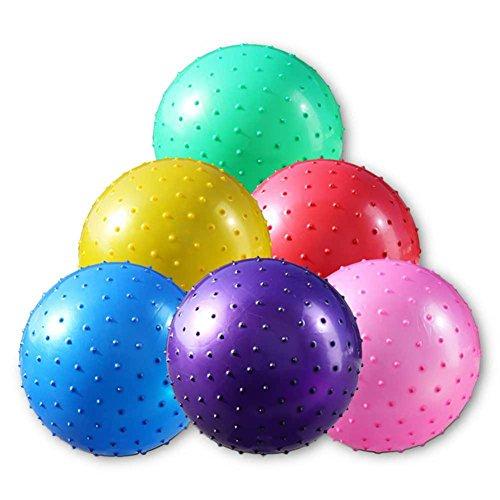 6 x Noppenbälle Massagebälle Noppenball mit Pumpe 30 cm