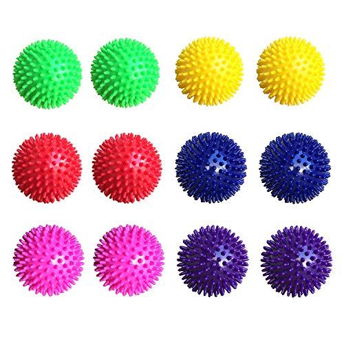 Unibest Igelball Massageball Noppenball 8cm 12er-Set 6 Farben