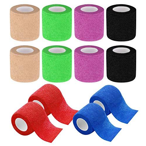 tonyg-p 12 Stück Selbstklebender Bandage Kohäsive Bandage, Elastischer atmungsaktiver...