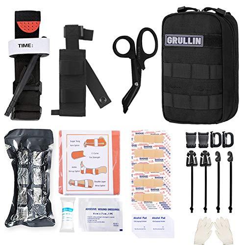 GRULLIN MOLLE IFAK Trauma Kit, taktisches Erste Hilfe Kit, Notfall EMT für die Kajak Camp Jagd auf...