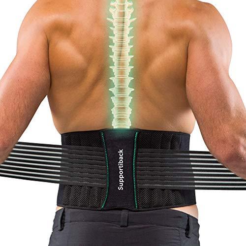 Supportiback Rückenstützgürtel zur Haltungskorrektur – Rückenstabilisator, Lendenwirbelstütze...