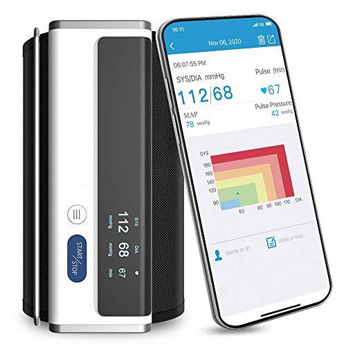 Armfit Bluetooth Blutdruckmessgerät Oberarm, Blutdruck Maschinen für den Heimgebrauch mit großen...