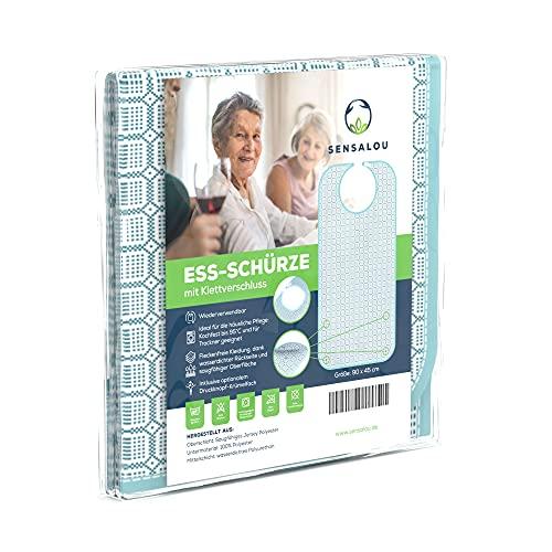 Sensalou Lätzchen Ess-Schürze Ess-Latz für Erwachsene Senioren - Klettverschluss