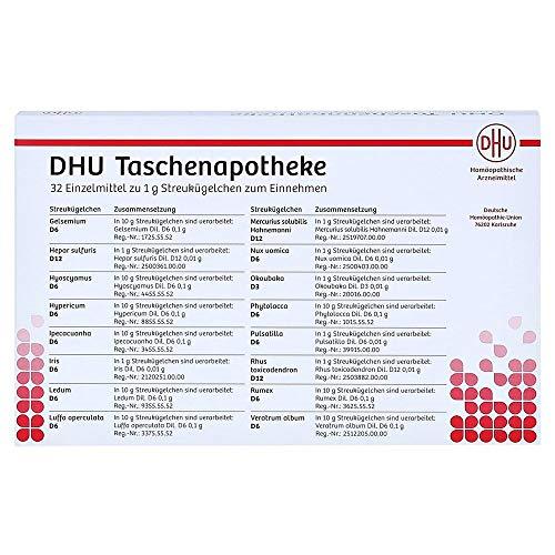 DHU-Taschenapotheke 32 Einzelmittel zu 1 g Streukügelchen, 1 St. Set