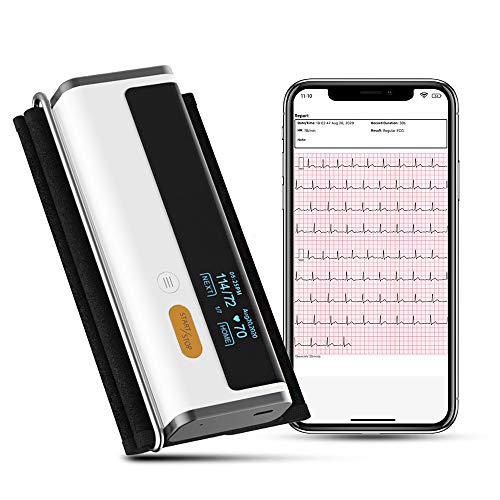 Armfit Plus Blutdruckmessgerät Bluetooth mit EKG, Oberarmmanschette, kabellosem...