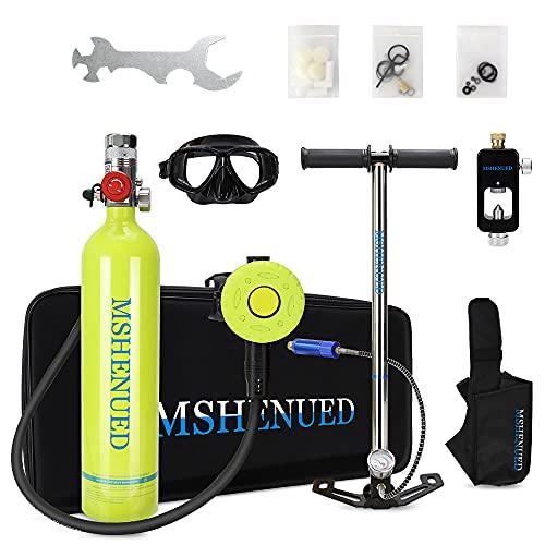 MSHENUED 1L Sauerstoffflasche Tauchen Tauchflasche Tragbare Tauchausrüstung Taucherausrüstung Set...