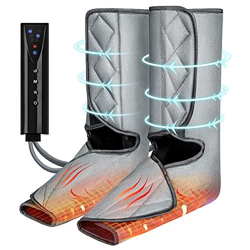 QUARED Beine Massagegerät Fußmassagegerät Elektrisch mit Wärme, Kabellos Verwenden 3 Modi 3...