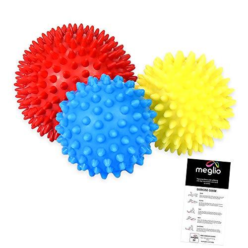 meglio Faszienball Massagebälle 3er Set, Noppenball Set perfekt für den Triggerpunkt-Therapie,...