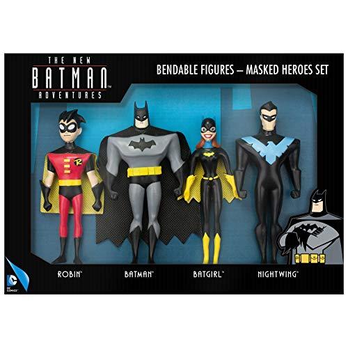 NJ Croce Maskierte Helden Set inkl. Robin, Batman, Batgirl & Nightwing Actionfigur