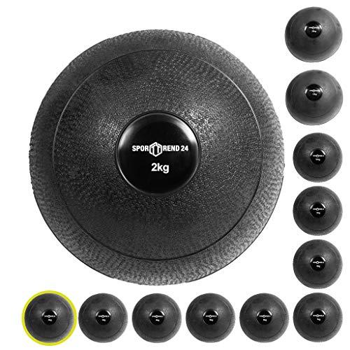 Sporttrend 24 | Slamball/Medizinball 2kg - 20kg in schwarz - kein Rückprall/No Bounce - grippige...