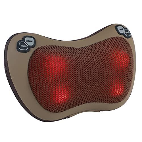 Massagekissen, Lofamy Shiatsu Massagegerät mit Wärmefunktion Massage und 4 3D-rotierenden...