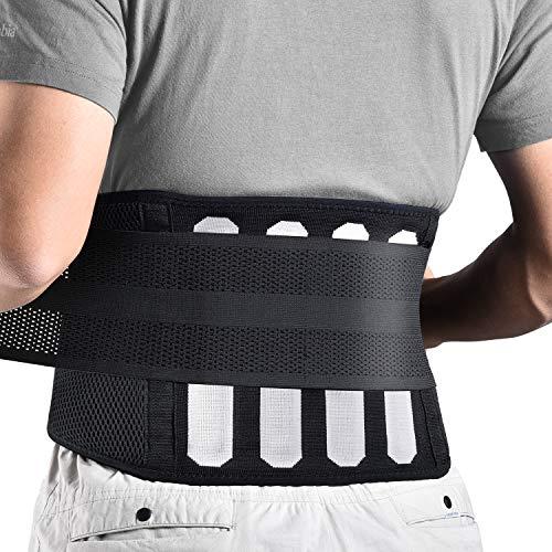 FREETOO Rückenbandage mit Stützstreben Verstellbare Zuggurte und atmungsaktiver Nylonstoff ideal...