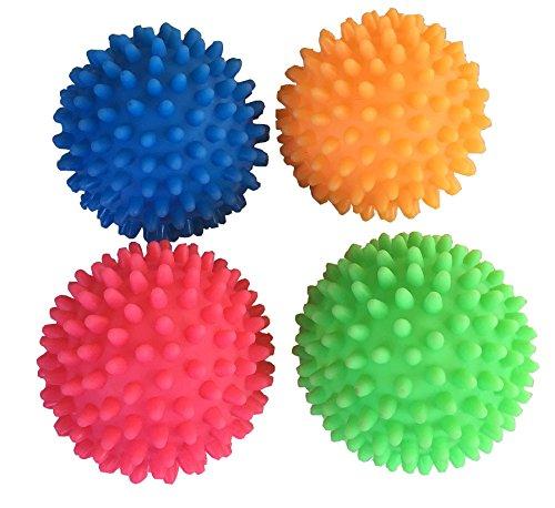 4 Stück Igel Massagebälle Noppenball - ca. 7 cm Durchmesser - weiche Bälle - in verschiedenen...