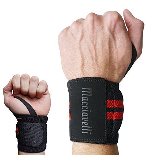 MACCIAVELLI – Handgelenkbandagen [2er Set] für Kraftsport und Fitness – Handgelenkstützen |...