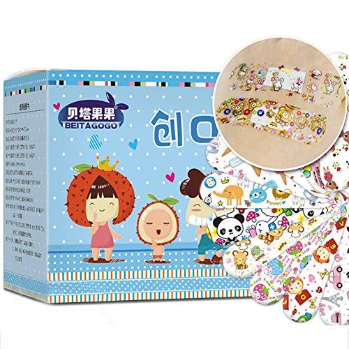 URFEDA 120 Stück Cartoon-Bandagen Kinderpflaster, selbstklebend, wasserdicht, Wundpflaster,...