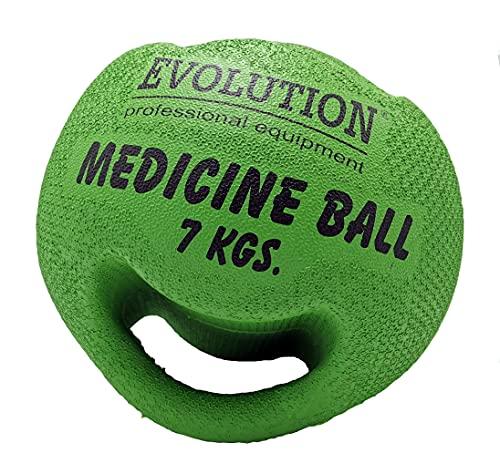 Evolution Medizinball mit Griffen Ball mit Handgriffen 6KG 7KG Trainingsball Fitnessball aus...