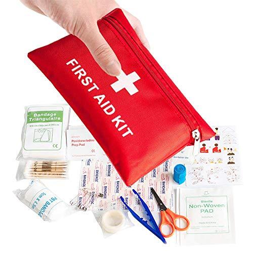 Mini Erste Hilfe Set,Klein Erste-Hilfe-Set Notfall Überlebens Kit 78er Pack Notfalltasche Tasche...