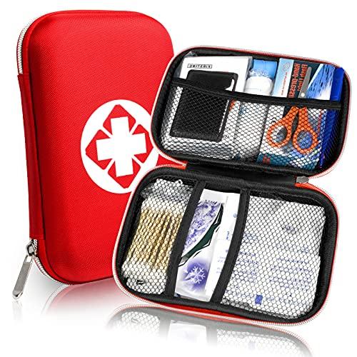 Erste Hilfe Set, Mini First Aid Kit für Notfälle in der Familie - Ideal für Zuhause Auto Reisen...
