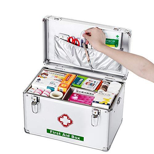 Ablageboxen Tragbare Erste-Hilfe-Box Alu Medizinkoffer Medizinbox Hausapotheke Multifunktions...