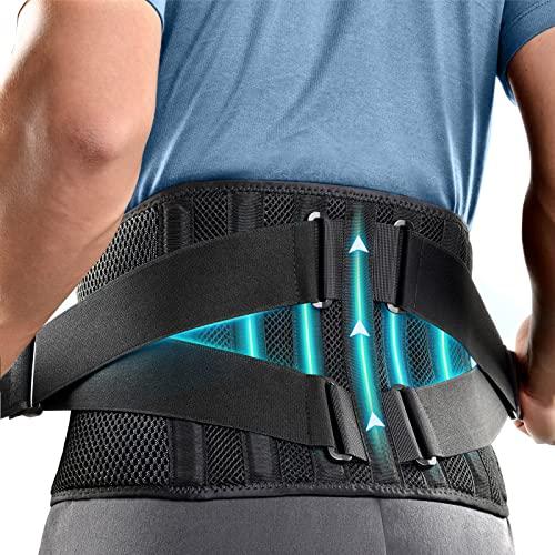 FREETOO 2021 Neu Rückenbandage Mit 7 Stützstreben,360° Verstellbarer Rückengurt...