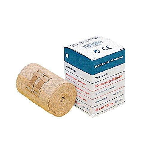 Holthaus Medical YPSIDUR® Kurzzug-Binde Verband Bandage Binde, mit Verbandklammern, dauerelastisch,...