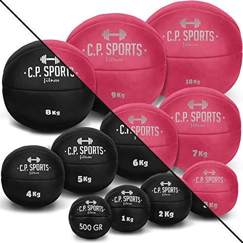 C.P. Sports Medizinball pink oder schwarz | 0,5 KG bis 10 KG | einzeln oder Set | für Sport Fitness...