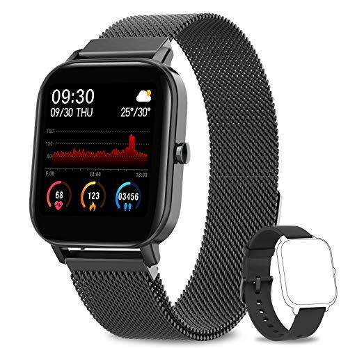 AIMIUVEI Smartwatch, 1.4 Zoll Touch-Farbdisplay Fitness Tracker, Wasserdicht IP67 Fitnessuhr...