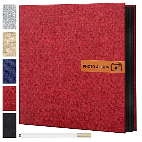 Adkwse Fotoalbum zum Selbstgestalten Folie, Scrapbook Album Selbstklebende, DIY Fotoalben(27x28cm)...