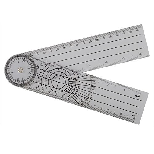 Tutoy Professional 360 Grad Multi-Lineal Goniometer Winkel Spinal Lineal-1PCS