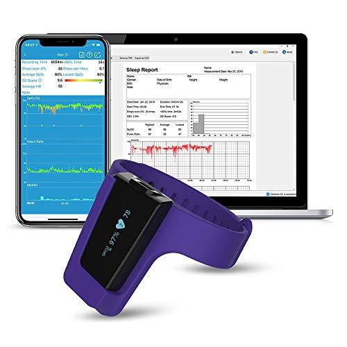 Handgelenk-Pulsoximeter, Schlaf-Sauerstoff-Monitor zur Überwachung der Sauerstoffsättigung über...