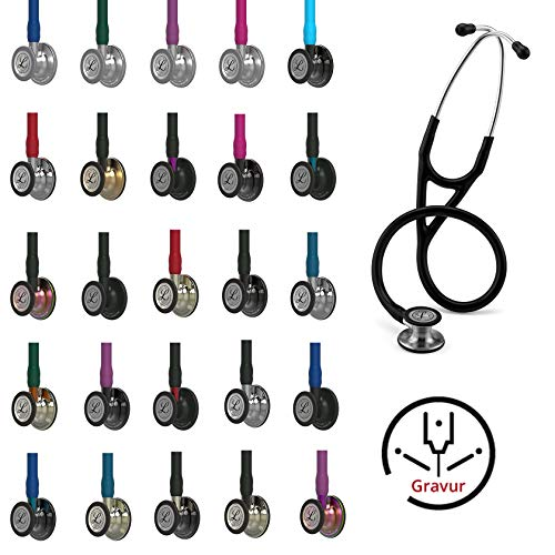 3M Littmann Cardiology IV Kardiologiestethoskop MIT GRAVUR Stethoskop (verschiedene Farben)...