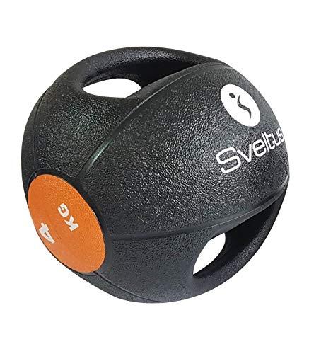 Sveltus Medizinball 4 kg mit Griffen