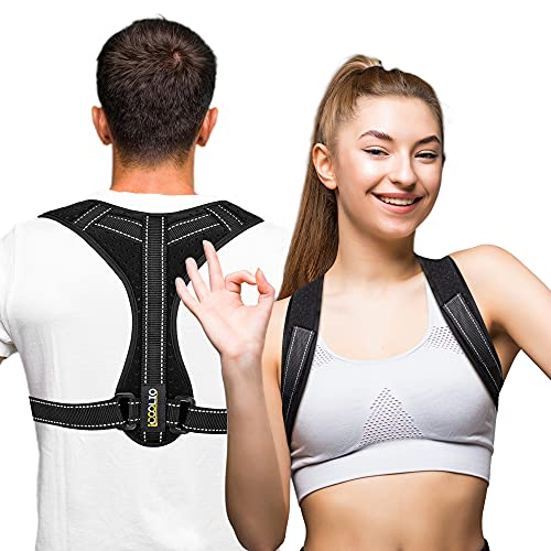 iCOOLIO Rücken geradehalter für damen und herren, rückengurt, rückenstütze, schultergurt...