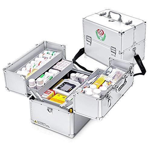 Erste Hilfe Koffer Medizin-Box Hausapotheke Schrank Ablageboxen Tragbare Erste-Hilfe-Box Medizin Box...