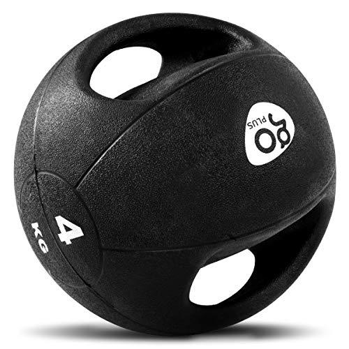 DREAMADE Medizinball mit Griff, Gewichtsball aus Gummi, Trainingsball Fitnessball Gymnastikball in...