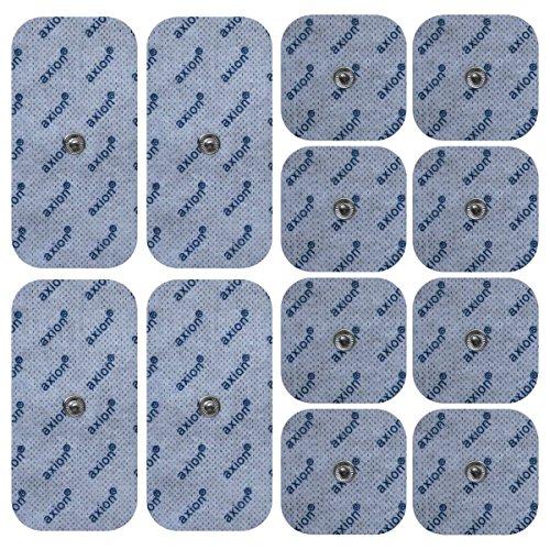 12er Misch-Set Elektroden-Pads - kompatibel mit EMS- & TENS-Geräten von Sanitas (wie SEM 40,41) &...