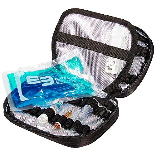 Elite Bags PHIAL´S Ampullarium für 50 Ampullen Schwarz 18 x 14 x 4 cm