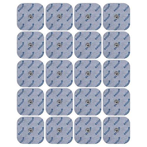 20 axion Elektroden-Pads 50x50mm - passt zu EMS- & TENS- Geräten von Sanitas & Beurer