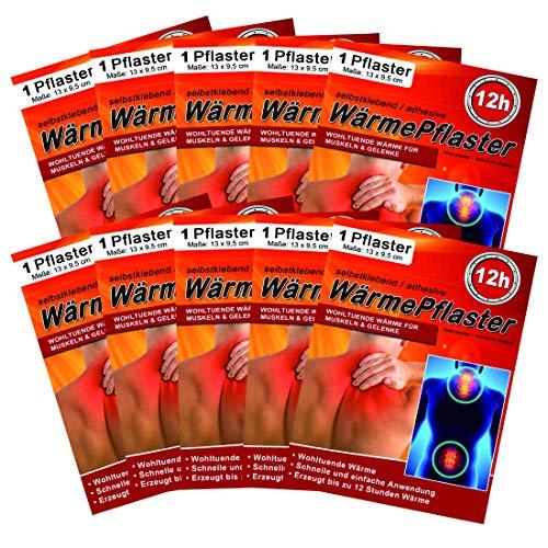 M&H-24 Wärmepflaster bis 12h für Rücken, Nacken, Bauch - Wärmekissen Wärmepads Rückenwärmer...