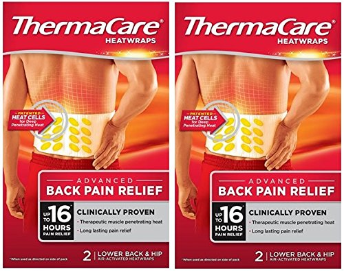 Thermacare Wärmebandagen, für den unteren Rücken, 2 x 2 Packungen, 4 Stück
