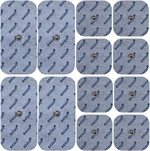 12er Misch-Set Elektroden-Pads - kompatibel mit EMS-Trainern & TENS-Geräten von Sanitas (wie SEM...