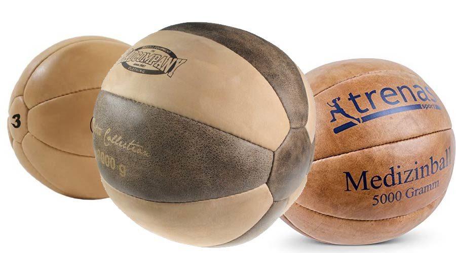Echt-Leder Medizinball