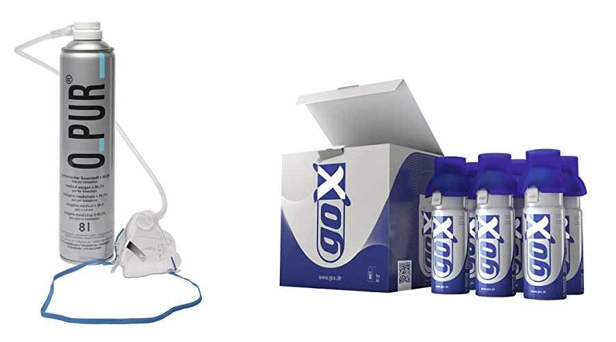 Sauerstoffflaschen mit Maske